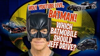 In case you missed it we were LIVE yesterday driving the Batmobile
