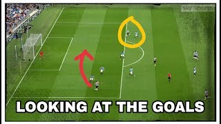 Analysing the goals   Manchester City 2-1 Newcastle United