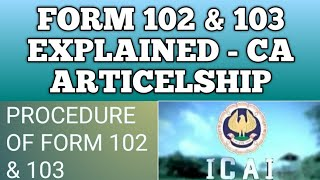 WHAT IS FORM 102 AND 103 IN CA ARTICLESHIP