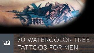 70 Watercolor Tree Tattoos For Men