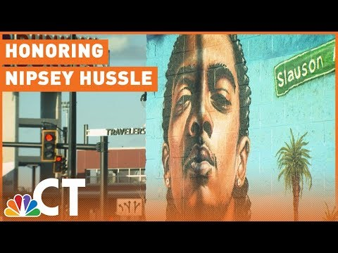 Mural Honoring Nipsey Hussle Brings Hundreds to Hartford Skatepark  | NBC Connecticut