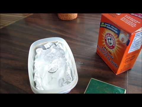 Чистка серебра - фольга, сода, кипяток