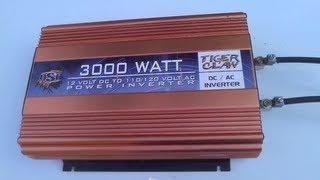 3000 watt OSP Tiger Claw inverter runs a twin tank Dewalt compressor