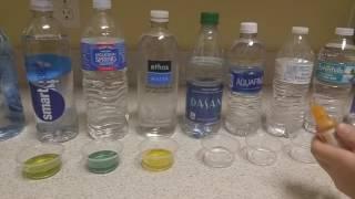 Bottled water pH level test