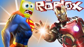 АНТОША стал СУПЕР ГЕРОЕМ в ROBLOX Приключения мульт героя в РОБЛОКС  игра Superhero Battle на СПТВ