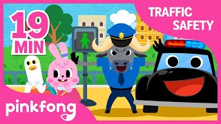 Traffic Lights and more | Traffic Safety Songs | +Compilation | Pinkfong Songs for Children