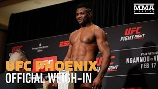 UFC Phoenix Official Weigh-In Highlights - MMA Fighting
