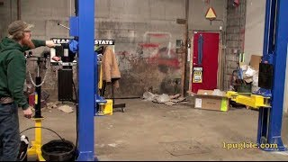 assembling and testing new atlas 10,000 lb vehicle hoist