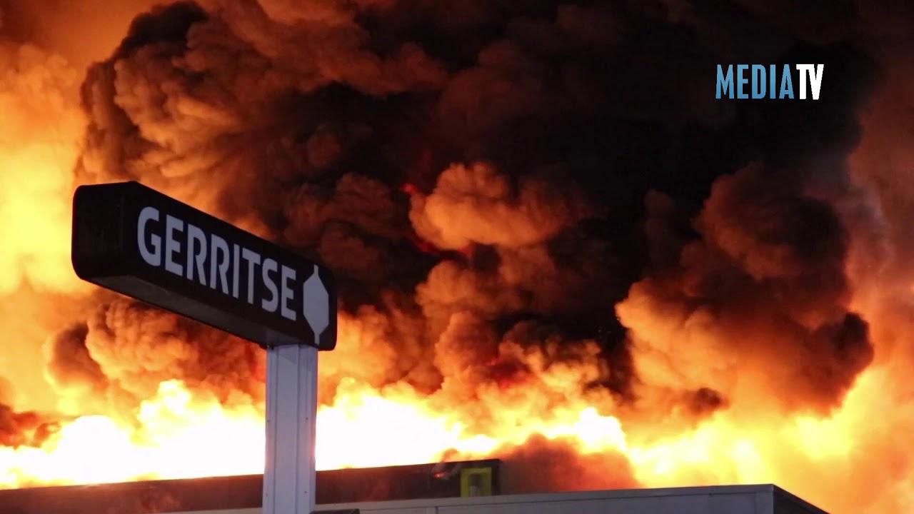 Marconistraat Gouda grote uitslaande brand bedrijfspand