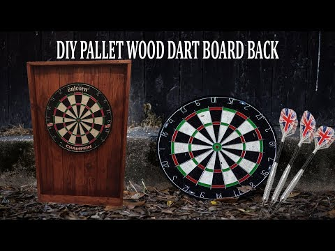 Quick and easy DIY dart board back