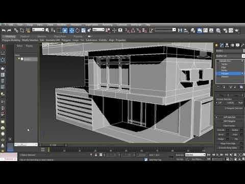Design of the house simulation speed level in 3ds max