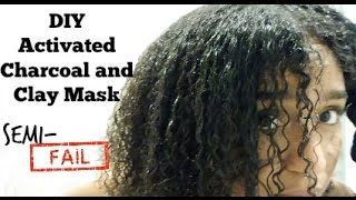 DIY Clarifying Charcoal and Clay Mask For Natural 4A-C Hair!