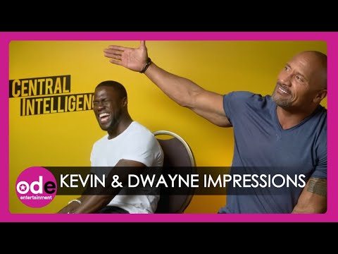 Kevin Hart and The Rock do hilarious impressions of each other! (видео)