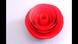 How to make rolled paper roses quick easy tutorial free online diy how to make rolled paper rose quick and easy paper flower mightylinksfo