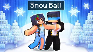 Our First SNOW BALL Dance In Minecraft!