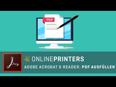 PDF ausfüllen - mit Acrobat, Adobe Reader oder Online-Diensten