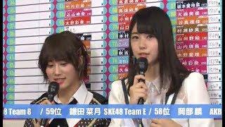 瀧野由美子城恵理子第10回AKB48総選挙2018直後インタビュー山本彩柏木由紀STU48NMB48