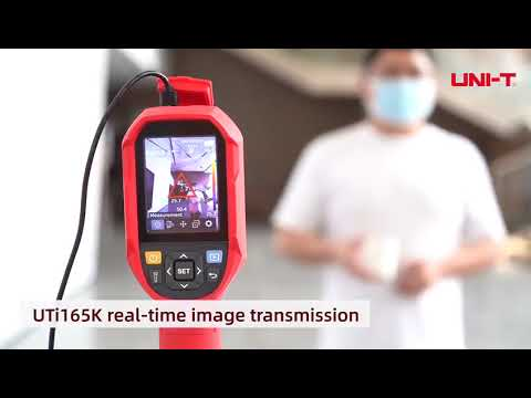 Thermal Imaging Camera With Display Red Portable Temperature Scanning Camera With Memory Card Slot