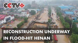 Trwa odbudowa w powodziowym Henan