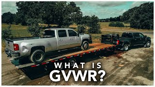 #GVWR - What Is It? Vehicle Weight Ratings Explained (GVWR, GCWR) w/All About Trailers