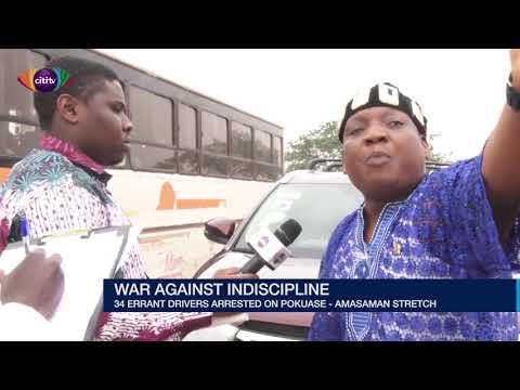 #WAI: 34 errant drivers arrested on Pokuase-Amasaman stretch