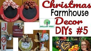 CHRISTMAS FARMHOUSE DOLLAR TREE DECOR DIYs #5 #burlapfabric.com #masonjar