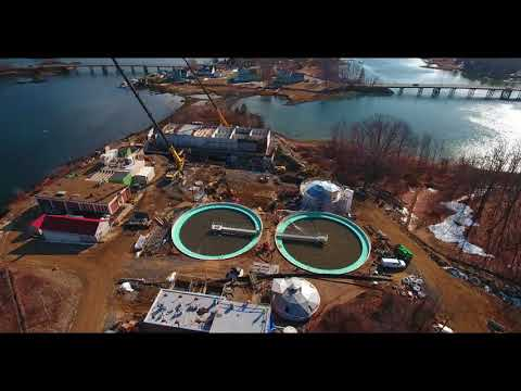 2 14 2018   Aerial Video Peirce Island Wastewater Treatment Facility