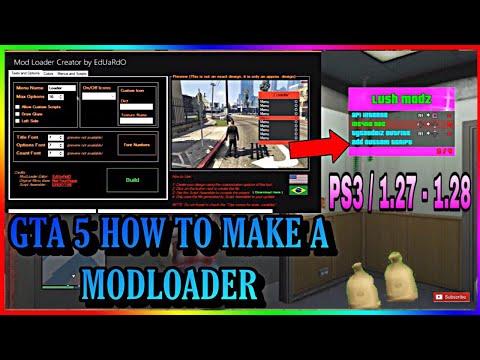HOW TO MAKE A GTA 5 PS3 MODLOADER 1.27/1.28 [Eduardo Bresolin Tool]