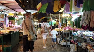 【4K】Night Walk at Yau Ma Tei - Hong Kong | Wholesale Fruit Market | Temple Street night market