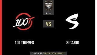 100 Thieves vs Sicario Gaming | CWL Champs 2019 | Day 1