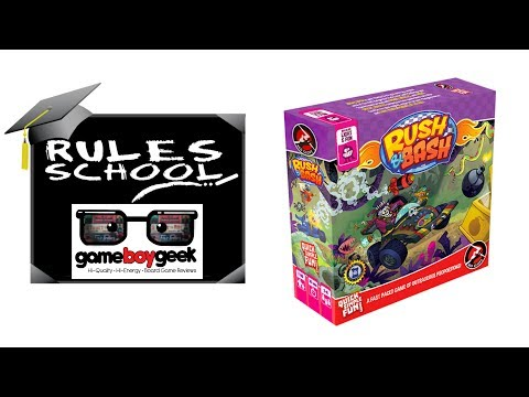 Learn How To Setup & Play Rush & Bash (Rules School) with the Game Boy Geek