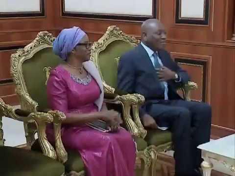 Le Chef de l'Etat Tchadien Idriss Deby Itno reçoit en audience Mabingue Ngom