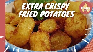 Crispy Fried Potatoes 🌿🥔