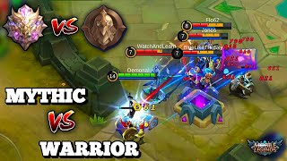 MYTHIC VS WARRIOR DIVISION | PLAYING LANCELOT AGAINST WARRIOR RANK |25 KILLS &SAVAGE| MOBILE LEGENDS