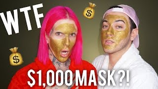 $1,000 MAGNETIC GOLD FACE MASK! REVIEW + DEMO feat. JEFFREE STAR