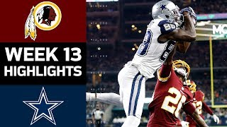 Redskins vs. Cowboys | NFL Week 13 Game Highlights