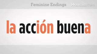 "Use ""El"" or ""La"" Based on Noun Endings | Spanish Lessons"