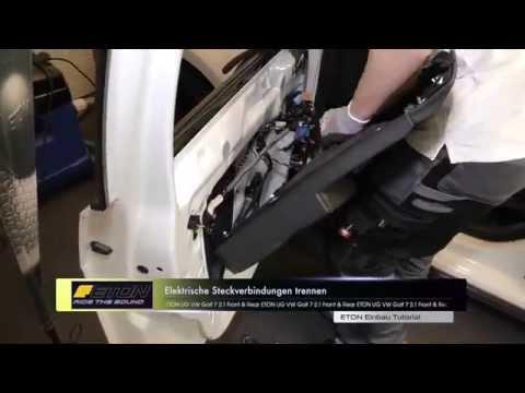 GOLF 7 Test Lautsprecher ETON Dämmung Einbau Tutorial Türverkleidung Subwoofer Endstufe