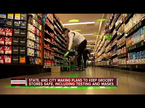 Michigan, Detroit making plans to keep grocery stores safe