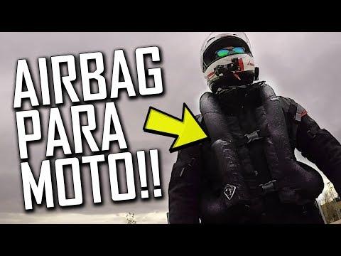 Chaleco AIRBAG para MOTO [A Cámara Lenta!]