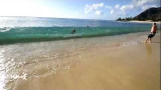 preview picture of video 'Makaha Hawaii - Turtle Beach Waterproof Camera - Vacation Party'