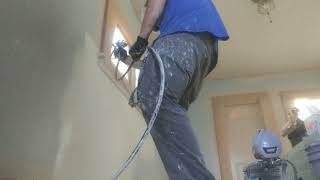 Painting a remodel with Krause and Becker airless paint sprayer (Harbor Freight)
