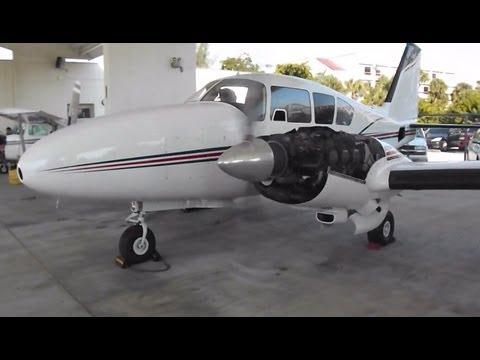 Piper-Aztec Engine Start at Baker Aviation