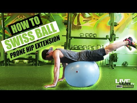 How To Do A SWISS BALL PRONE HIP EXTENSION | Exercise Demonstration Video and Guide