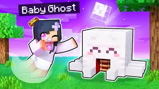 We DIED And Made A Baby GHOST Base In Minecraft!