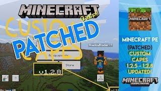 HOW TO USE CUSTOM CAPES IN MCPE 1 2 - Minecraft Pocket