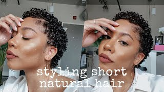 Short Natural Hair Coils (easy) | Faceovermatter 🌻