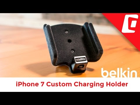 Play Video: Padded iPhone Holder for Belkin Audio + Charge Rockstar Adapter