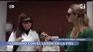 Reportaje Dermabia Laser - Noticias AragonTV - Doctora Ana Cristina Lázaro Tremul