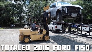 Rebuilding a Wrecked 2016 Ford F150 Part 1!